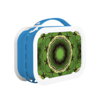 Avacado green with black color pattern lunch box