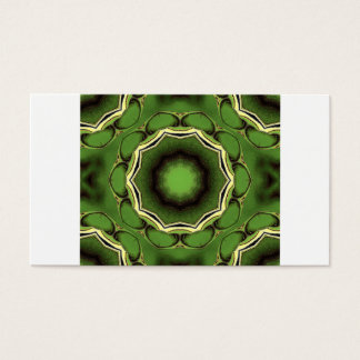 Avacado green with black lines business card