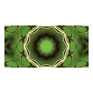 Avacado green with black lines card