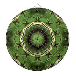 Avacado green with black lines dartboard