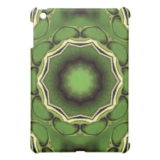 Avacado green with black lines iPad mini case