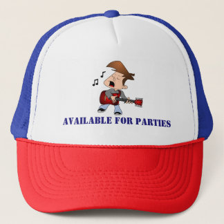 Available For Parties Music Trucker Hat