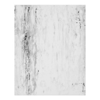 'Avalanche' Black and White Abstract Art Poster