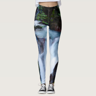 Avalanche Creek Glacier National Park Leggings