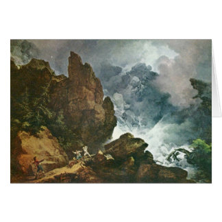 Avalanche In The Alps,  By Loutherbourg D. J. Card
