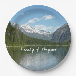 Avalanche Lake I in Glacier National Park Paper Plate