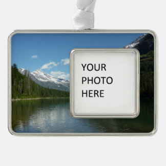 Avalanche Lake I in Glacier National Park Silver Plated Framed Ornament