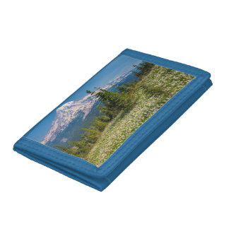 Avalanche lilies and Mount Rainier Trifold Wallet