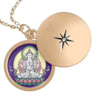 Avalokiteshvara (tib. Chenrezig)-Compassion Buddha Locket Necklace