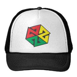 AVALON7 Inspiracon Rasta Trucker Hat