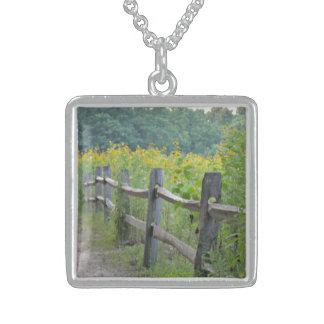 Avalon Meadows Square Pendant Necklace