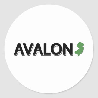 Avalon, New Jersey Classic Round Sticker