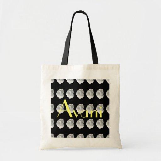 Avani Flower Budget Tote Canvas Bag