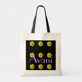 Avani Flower Budget Tote Canvas Bags