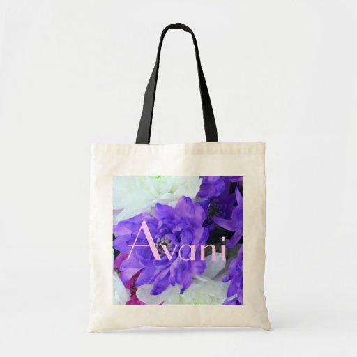Avani Flowers Budget Tote Canvas Bag