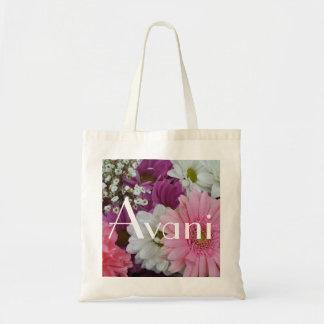 Avani Flowers Budget Tote Bags