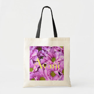 Avani Flowers Budget Tote Canvas Bags