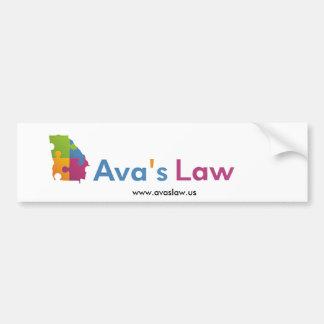 Ava's Law bumper sticker