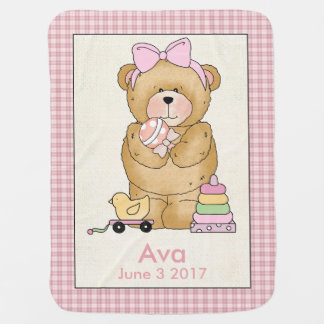 Ava's Personalized Baby Bear Blanket