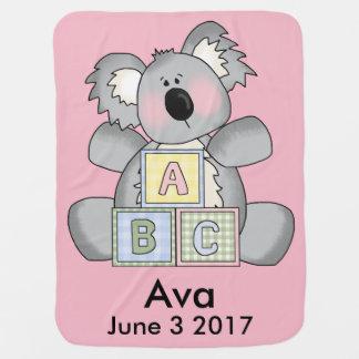 Ava's Personalized Koala Baby Blanket