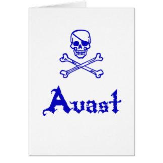 Avast Greeting Card