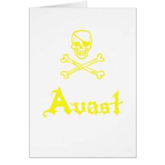 Avast Greeting Card