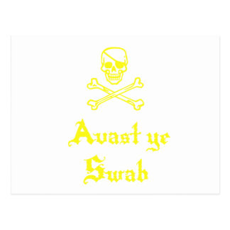 Avast Ye Swab Post Card