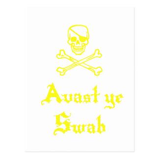 Avast Ye Swab Post Cards