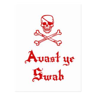 Avast Ye Swab Postcards