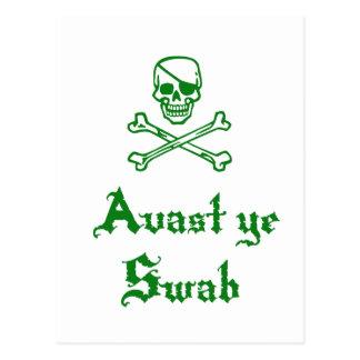 Avast Ye Swab Postcard
