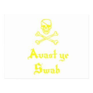 Avast Ye Swab Post Card
