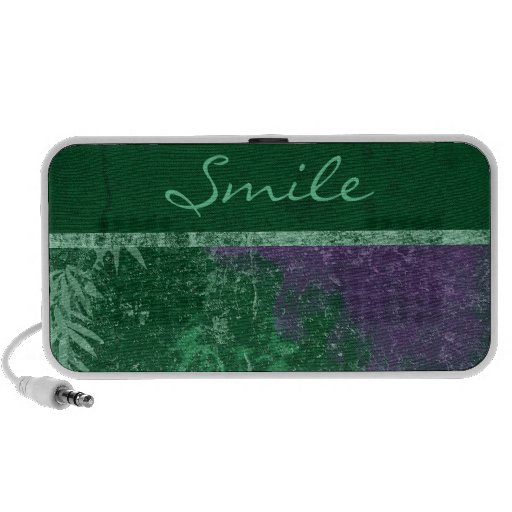"""Avatar Toxic Green """"Smile"""" Doodle Speakers"""
