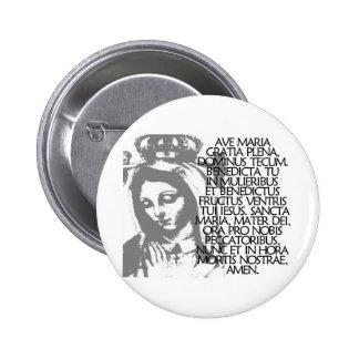 Ave Maria 6 Cm Round Badge