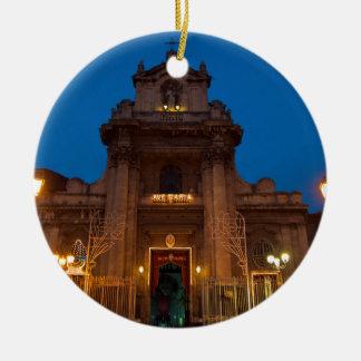 Ave Maria Church in Catania Ceramic Ornament