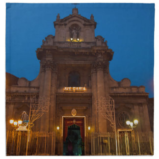 Ave Maria Church in Catania Napkin