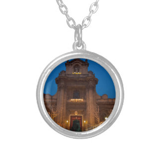 Ave Maria Church in Catania Silver Plated Necklace