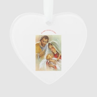 Ave Maria Heart Ornament
