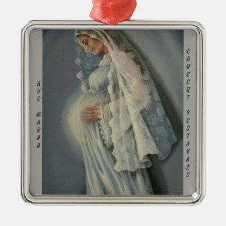Ave Maria, Premium Square Ornament