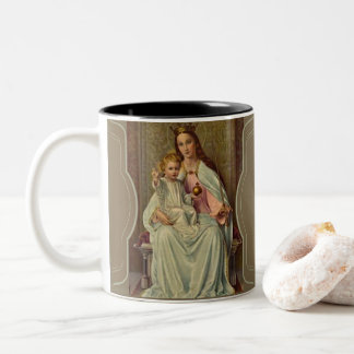 AVE MARIA QUEEN MARY INFANT JESUS THRONE SCEPTER Two-Tone COFFEE MUG