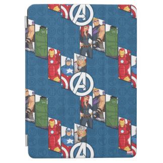 Avengers Assemble Characters Kid Pattern iPad Air Cover