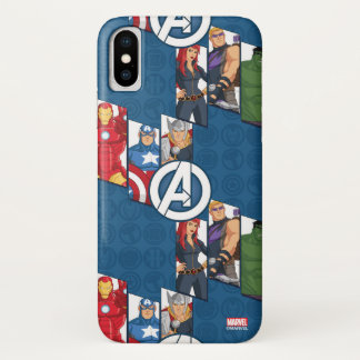 Avengers Assemble Characters Kid Pattern iPhone X Case
