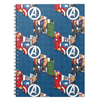 Avengers Assemble Characters Kid Pattern Spiral Note Book