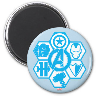 Avengers Assemble Icon Badge 6 Cm Round Magnet