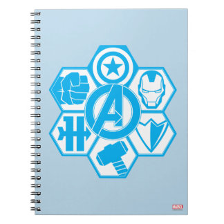 Avengers Assemble Icon Badge Spiral Note Book