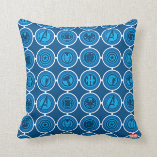 Avengers Assemble Icon Pattern Cushion