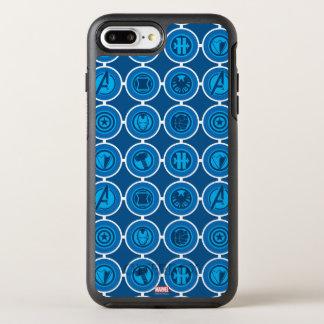 Avengers Assemble Icon Pattern OtterBox Symmetry iPhone 8 Plus/7 Plus Case