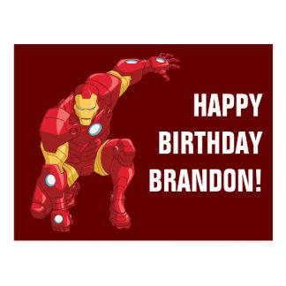 Avengers Assemble Iron Man Character Art Postcard