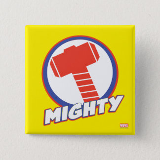 Avengers Assemble Mighty Thor Logo 15 Cm Square Badge