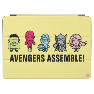 Avengers Assemble - Stylized Line Art iPad Air Cover