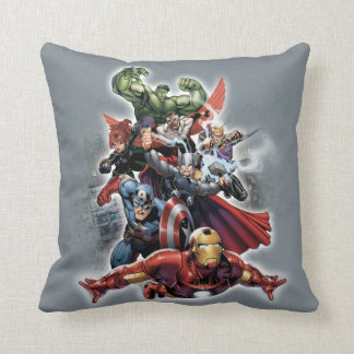 Avengers Attack Graphic Cushion